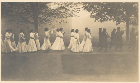 Photograph of Parade Night, 1911, from the Bryn Mawr College Special Collections