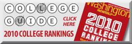 decorative graphic:Washington Monthly 2010 College rankings