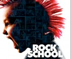 Rock School poster -- image of child with pink mohawk haircut