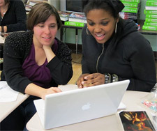 Adrienne Webb and Sharaya Weekley research college options
