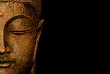 photo of meditating Buddha sculpture