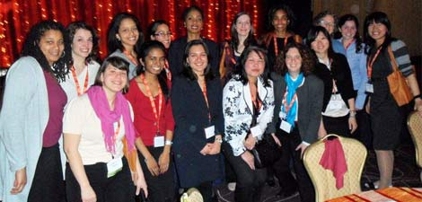 Bryn Mawr delegates to the CARE conference with Helene Gayle