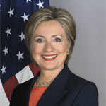 portrait of Hillary Clinton