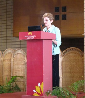 Bryn Mawr President Jane McAuliffe at Asian University for Women conference