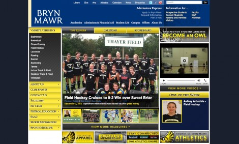 Image of Athletics Website