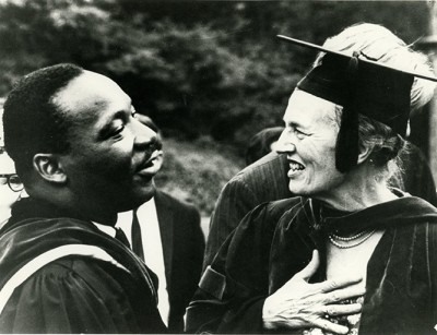 Martin Luther King, Jr. and Bryn Mawr College President Katharine McBride in 1966.