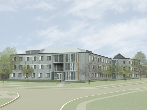 A tentative sketch of the new Haffner Hall