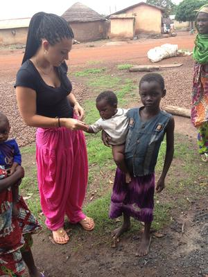 Angela Allard '14 in Ghana