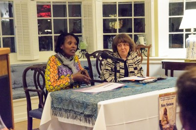 Activist Neema Namadamu and Interim Provost Mary Osirim