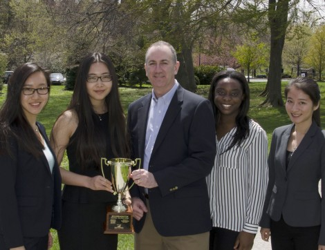 Adirondack Fund Partner Steve Gonick and Bryn Mawr students Kathy Guo, Dingwei Li, Nkiruka Anizoba, and Yannan Li.