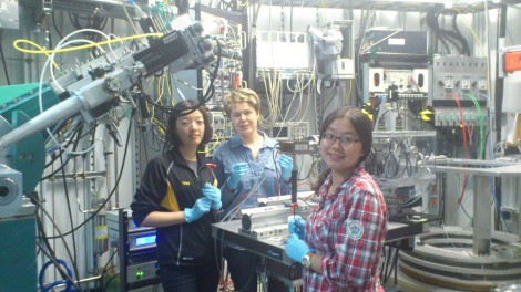 Yilun Tang, Alena Klindziuk, and Leqi Liu at the Argonne