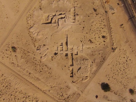 Image from a drone of the Tell Abraq settlement in the UAE